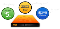 Digital Ocean 512MB 20GB SSD VPS for $5